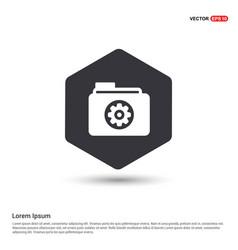 Gear box icon hexa white background icon template vector