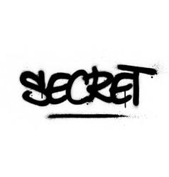 Graffiti secret word sprayed in black over white vector