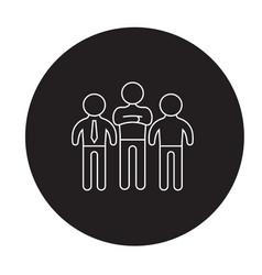 head of the departament black concept icon vector image