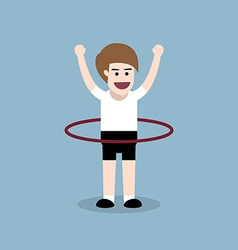 Hula hoop exercise vector
