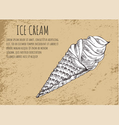 ice cream poster with sketch vector image