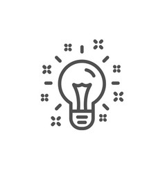 idea line icon light bulb or lamp sign vector image
