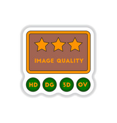 In paper sticker style high vector
