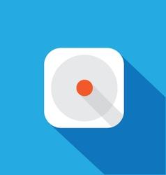 IOS app flat icon template vector