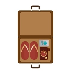 Isolated bag travel design vector