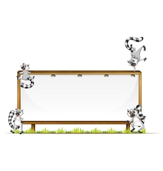 Lemurs on sign board vector