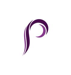 letter p icon logo vector image