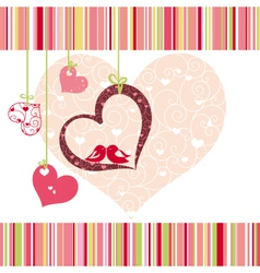 lovebirds colorful vector image
