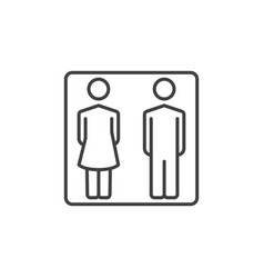 man and woman outline icon - wc or toilet vector image