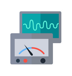measuring device in flat style vector image