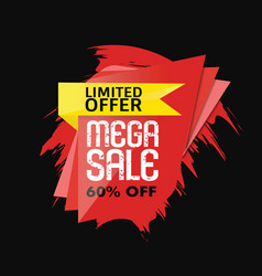 mega sale banner abstract vector image