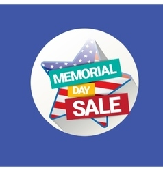 memorial day sale banner vector image