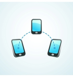 Mobile connection vector