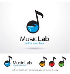 Music lab logo template vector