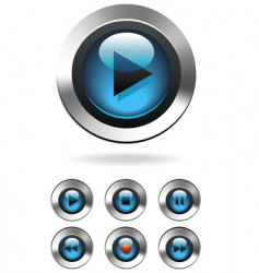 music player button vector image
