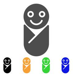 Newborn flat icon vector
