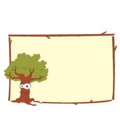 oak tree frame vector image