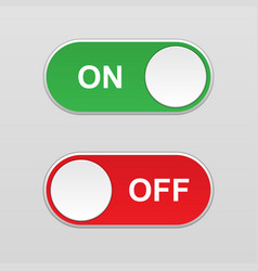 On and off toggle switch button vector