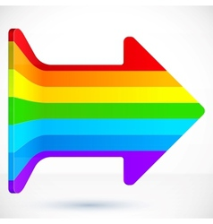 Rainbow right arrow vector image