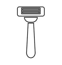 razor black color icon vector image