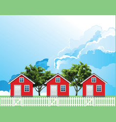 row residential houses vector image