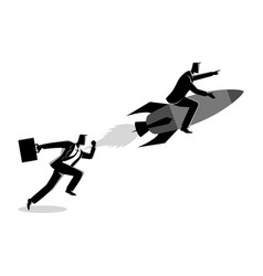 running businessman racing with a businessman on vector image
