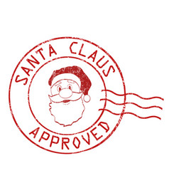 santa claus approved stamp vector image