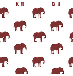 seamless pattern with silhouette elephants vector image