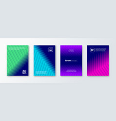 set abstract background with layered shapes vector image