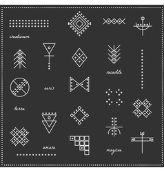 Set of geometric hipster shapes 9711black vector