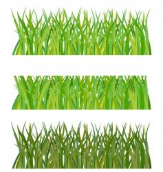 set of grass illustration vector image