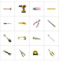 Set of tools realistic symbols with pliers vector