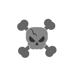 Skull bones trick or treat happy halloween vector