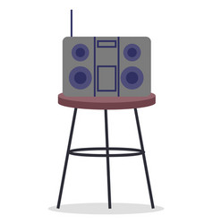 stereo system tuner boombox radio sound vector image