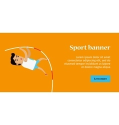 Summer Games Colorful Banner Pole Vault Sport vector