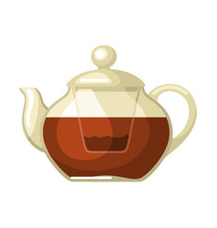 teapot with tea food adversting vector image