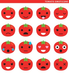 Tomato emoticons vector image