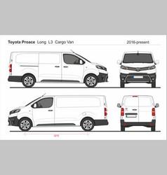 Toyota proace cargo long van l3 2016-present vector