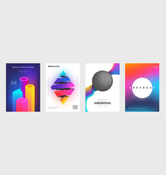 Trendy abstract cover creative book titles vector