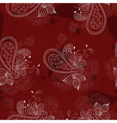 Vinous floral pattern vector