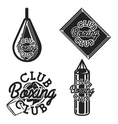vintage boxing club emblems vector image