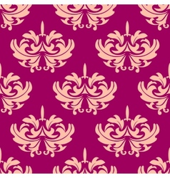Vintage purple arabesque seamless pattern vector image