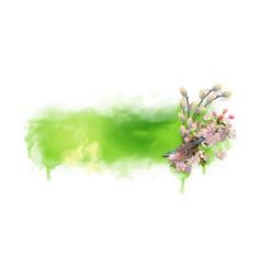 Watercolor spring background vector