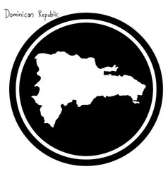 White map of dominican republic on vector