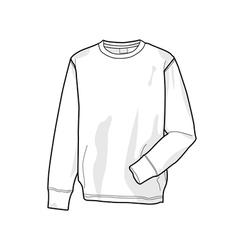 Colorable sweatshirt front vector image vector image