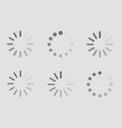 download sign indicator waiting icons set vector image