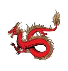 Dragon animal cartoon design vector image
