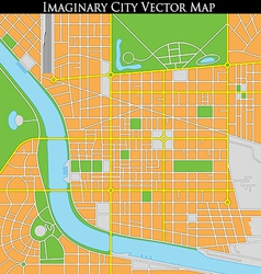 Generic Citymap vector image vector image