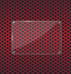 Glass plate on red background vector image