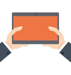 hands holding tablet technology online shopping vector image